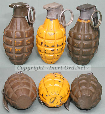 2 Repro MK2 WWII-style Resin Grenades, Olive Drab / Black - 578608 ...