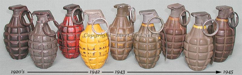 U.S. WWII Resin Dummy Mk 2 Pineapple Grenade ima-usa.com